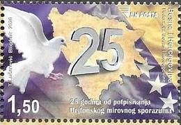 BOSNIA MUSLIM, 2020, MNH,HISTORY, DAYTON ACCORDS, BIRDS, DOVES,1v - Sonstige