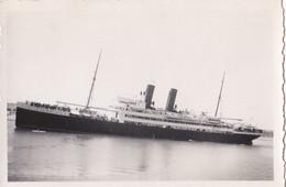 Ancienne Photographie Argentique. Navire Français. Paquebot  Transatlantique - Barche