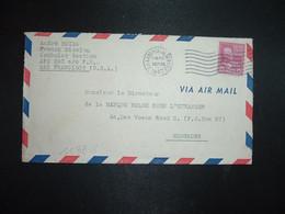 LETTRE PAR AVION POUR HONG KONG TP Mc KINLEY 25c OBL.MEC.SEP 25 1947 US ARMY POSTAL SERVICE + FRENCH MISSION APO 503 - Postal History