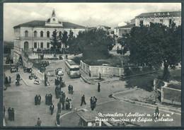 § MONTEMILETTO  (Avellino)  Piazza Municipio Ed Edificio Scolastico § - Avellino