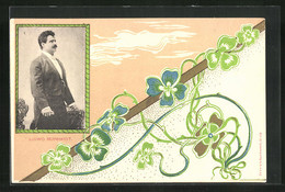 AK Opernsänger Ludwig Bernhardt, Jugendstil - Opéra