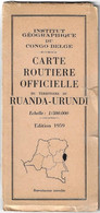 Carte Routière Officielle Du Territoire Du Ruanda - Urundi - World