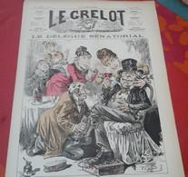 Journal Satirique Le Grelot N°720 Janvier 1885 Le Délégué Sénatorial Cirage De Pompes Et Brosse à Reluire - 1850 - 1899