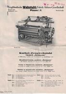 Vogtländische Webstuhl Fabrik Vogtland  Schweiz - Textor - Kurbel Zeugwebstuhl - Deutschland - Tools