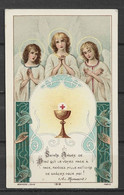 Image Pieuse Communion Et Anges Bouasse Jeune 27 Mai 1923 - Devotieprenten
