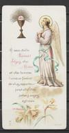 Image Pieuse Communion Et Ange 3 Juin 1920 - Devotieprenten