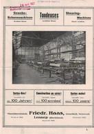 Maschinenfabrik Friedr. Hass Lennep Rheinland - Gewebe Schermaschinen -  Remscheid - 1924 - Deutschland - Tools