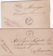 Augusta - 2 Lettere Con Testo - Marcophilia