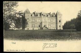 CP ( Tillet :Château De Gérimont) Obl. ARLON - BRUXELLES  1905 - Bahnpoststempel