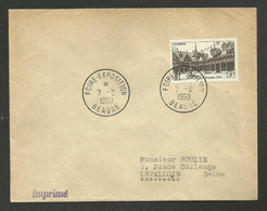 Foire Exposition De BEAUNE 1950 / Timbre Concordant - Gedenkstempel