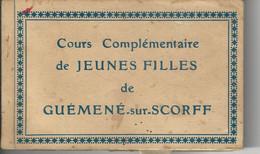Cours école Complémentaire De Jeunes Filles De Guemené Sur Scorff Carnet Complet 25 Cartes Tres Bon Etat Sport Salle - Otros Municipios
