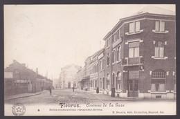 CPA Fleurus - Avenue De La Gare - Belles Constructions Récemment élevées -  Timbre Sous Occupation Allemande - Fleurus