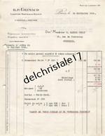 75 1043 PARIS SEINE 1924 Cartes à Jouer CHARTIER MARTEAU & BOUDIN Succ GRIMAUD Rue De Lancry à M. CASTEL PETIT - 1900 – 1949