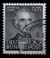 Bund 1953,Michel# 166 O Justus Von Liebig - Gebruikt