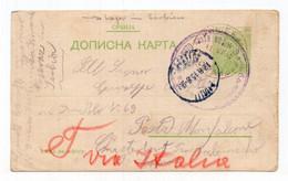 1915 WWI SERBIA,MILITARY CARD,POW,NIS TO MONFALCONE,ITALY - Serbia