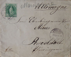 Ambulant 29.XII.1886 > Oberbürgermeister Mirus Rudolstadt (rsA) - Stehende Helvetia 25 Rappen Grün - Briefe U. Dokumente