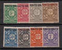 Haute-Volta - 1920 - Taxe TT N°Yv. 1 à 8 - Série Complète - Neuf * / MH VF - Postage Due