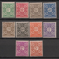 Haute-Volta - 1928 - Taxe TT N°Yv. 11 à 20 - Série Complète - Neuf * / MH VF - Postage Due