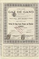 Titre Ancien - Compagnie Du Gaz De Gand - Titre De 1880 - Electricity & Gas