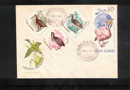 Romania 1965 Birds FDC - Pelicans