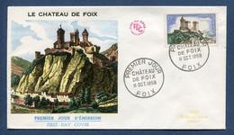 ⭐ France - Premier Jour - FDC - Chateau De Foix  - 1958 ⭐ - 1950-1959