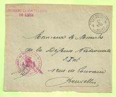 """MIL POST WO 2 MOBILISATIE Brief (devant) """"SM"""" """"PMB/ BLP / 9 / 28.X.1939"""" + """"REGIMENT DE FORTERESSE DE LIEGE"""" (B8960) - Lettere"""
