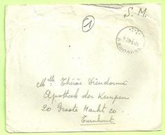 """Brief Stempel TERVUREN Op 17/1/46 , Verzonden """" Ecole D'Infanterie Tervuren"""" (B9194) - Posta Militare"""