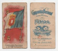 Carte Cigarettes Companhia Nacional Manufactora De Fumos Progresso Rio De Janeiro Chromo Drapeau Portugal - Other