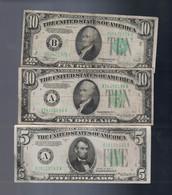 65 Face   US Bank Notes $5.'s  And $10 's - Kilowaar - Bankbiljetten