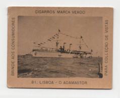 Carte Cigarettes Cigarros  Veado Brezil Chromo Croiseur Portugais L'Adamastor - Other