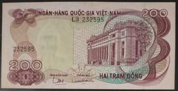 South Viet Nam Vietnam 200 Dong UNC Banknote Note 1970 - Pick # 27 / 02 Photos - Viêt-Nam