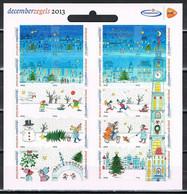 Nederland NVPH 3113-32 V3113-32c Vel Decemberzegels Trekpleister Logo 2013 Postfris MNH Netherlands Christmas Stamps - Unused Stamps