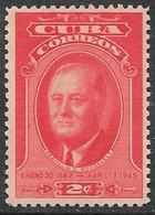 Cuba  1947  Sc#406 2c Roosevelt MH   2016 Scott Value $3 - Cuba