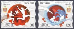 SERBIA 2021,SPORT,OLYMPIC GAMES TOKYO,MNH - Serbie