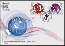 SERBIA 2021,SPORT,OLYMPIC GAMES TOKYO,FDC - Estate 2020 : Tokio