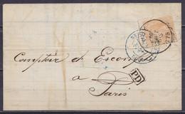 """L. Affr. N°33 Càd HUY /16 SEPT 1875 Pour PARIS - [PD] - Càd """"BELG. 3 ERQUELINNES"""" - 1869-1883 Leopold II"""