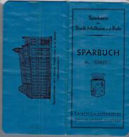 1934/1948 Mülheim A.d.Ruhr Sparbuch Mit Umstellungsrechnung Von RM Auf DM - Historical Documents