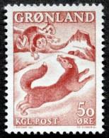 Greenland 1966 FOX  Minr.66  MNH (**)  ( Lot L 2198) FOX - Unused Stamps