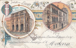 CARTOLINA  SALUTI DA VICENZA,VENETO,BELLA ITALIA,IMPERO ROMANO,MEMORIA,RELIGIONE,,STORIA,CULTURA,NON VIAGGIATA - Vicenza