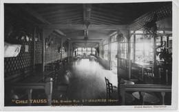 "SAINT-MAURICE - ""CHEZ TAUSS"" - GRANDE RUE - CARTE PHOTO - VERS 1930 - Saint Maurice"