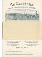 """Carte De Visite ( Format CPM GF) -22027--08- Charleville """"Au Campanile"""" De Léon Martinez  -Envoi Gratuit - Charleville"""