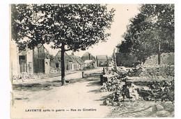07- 2021  - JW - PAS DE CALAIS - 62 - LAVENTIE - Après Guerre 14 - Rue Du Cimetière - Petit Accroc BG - Laventie