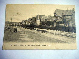 CPA 14DEAUVILLE LA PLAGE FLEURIE LA TERRASSE - Deauville