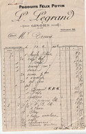 27-L.Legrand......Produits  Félix Potin.....Gisors....(Eure)..1924 - Levensmiddelen