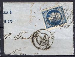 """FRANCE : OBLITERATION LOSANGE SUR FRAGMENT : P C 4226 ? """" Nice Alpes-Maritimes  """". A SAISIR . - 1849-1876: Période Classique"""