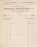 27-M.Maignan..Charcuterie-Comestibles....Gisors....(Eure)..192. - Levensmiddelen