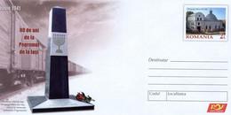 ROMANIA 2021: JUDAICA, POGROM, SINAGOGUE Unused Prepaid Cover 028/2020 - Registered Shipping! - Interi Postali
