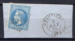 """FRANCE : OBLITERATION LOSANGE SUR FRAGMENT : G C 987 """"  Chauvigny Vienne """". A SAISIR . - 1849-1876: Période Classique"""