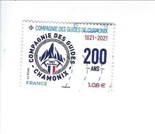Compagnie Des Guides De Chamonix 1821-2021 Oblitéré 2021 - Gebruikt