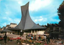 CPSM Rouen-Eglise Jeanne D'Arc-Beau Timbre   L756 - Rouen